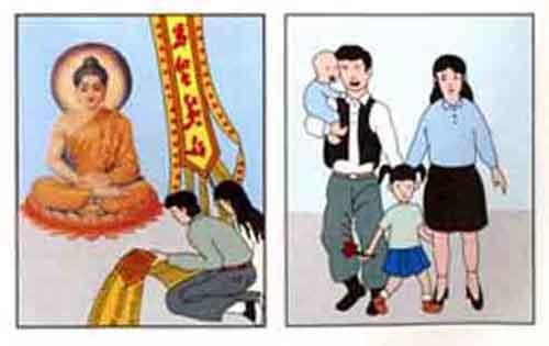 nhan qua - trang phan nghiem cung Phat