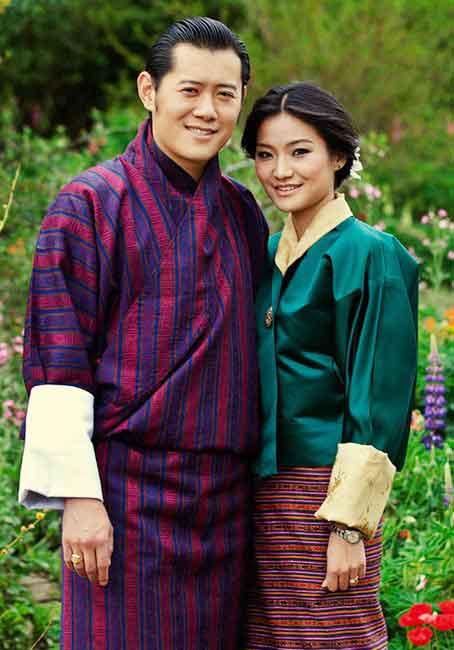 Quốc Vương và Hoàng Hậu Bhutan